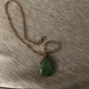 Francesca gold long necklace